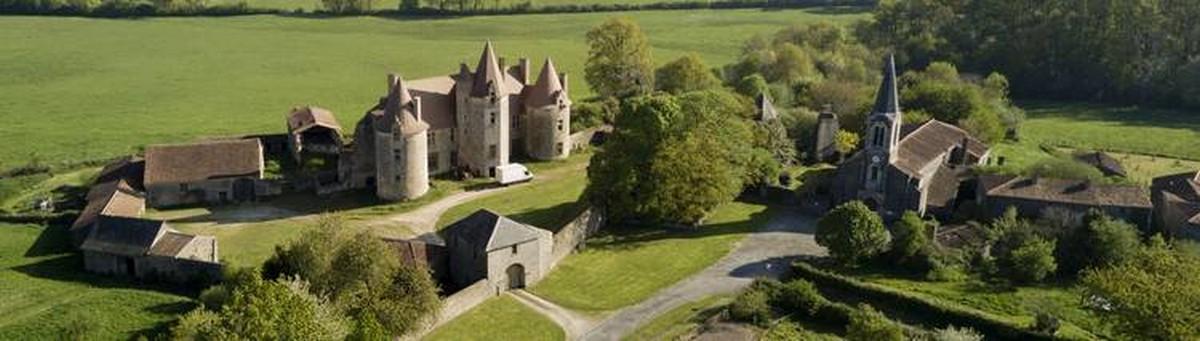 La chapelle Bertrand - Deux-Sèvres - Vue de drone