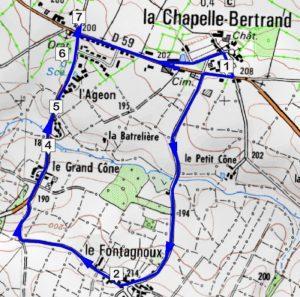 Le chemin des fontaines - La Chapelle Bertrand