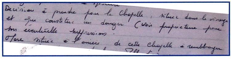 Capella Bertrandi - La Chapelle Betrand
