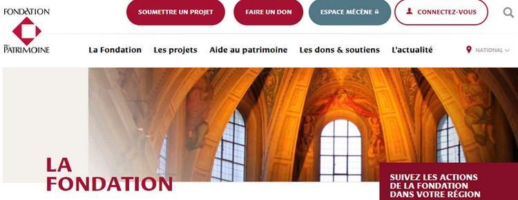 Site de la Fondation du Patrimoine