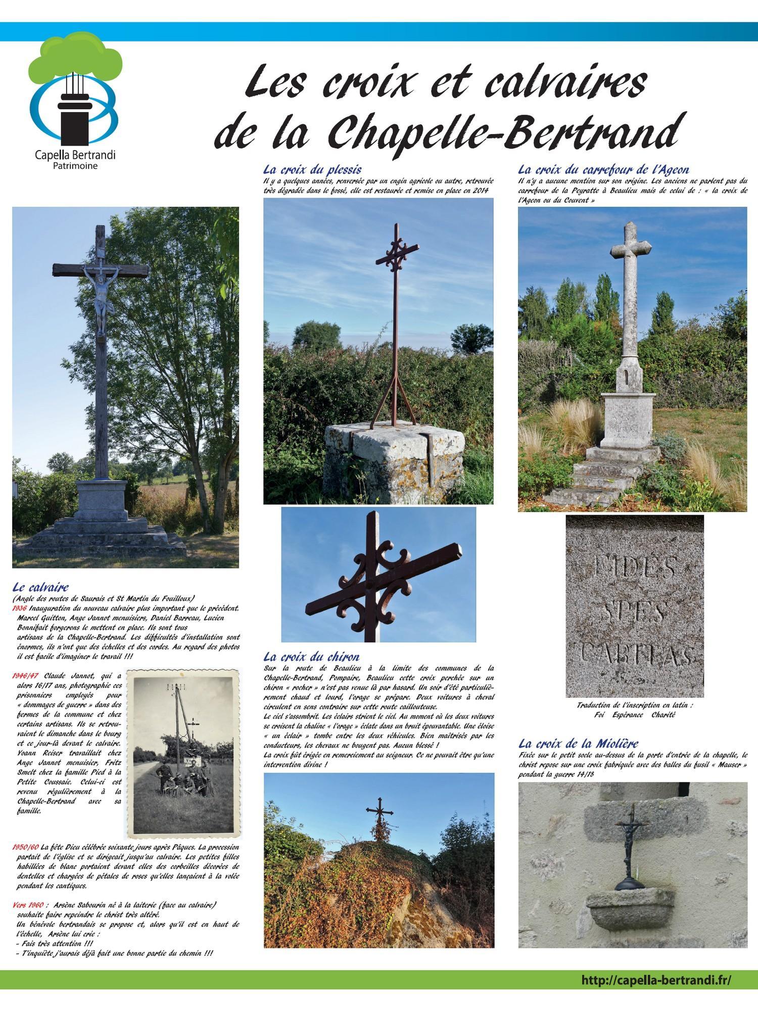 "Panneau ""croix et calvaires"" Capella Bertrandi"