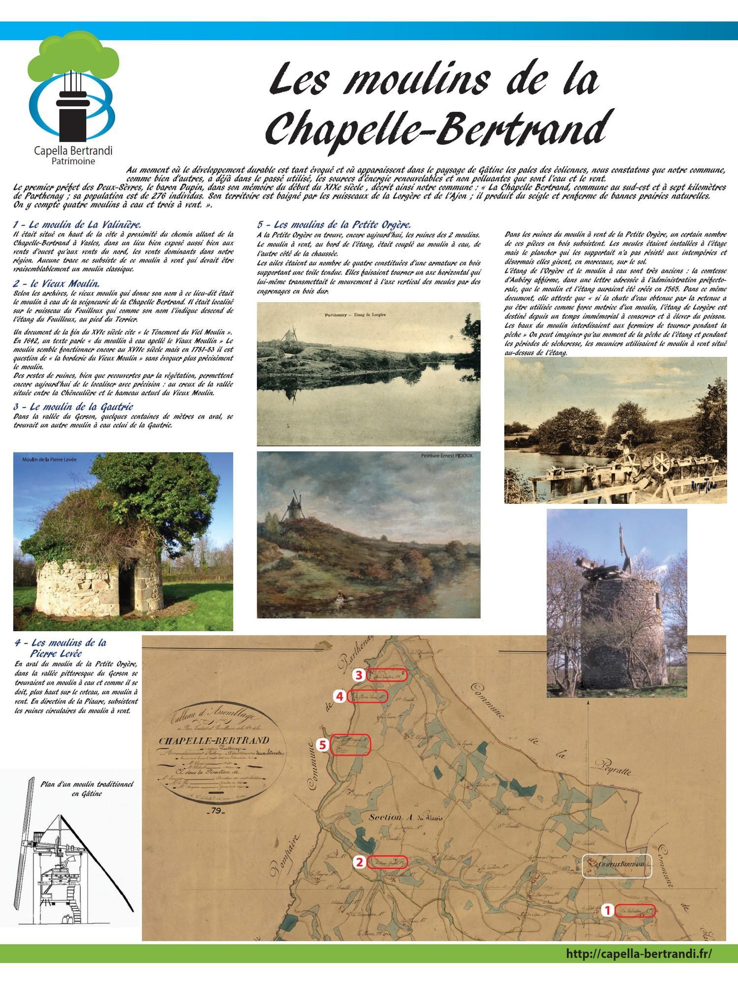 Les moulins de la Chapelle-Bertrand - Capella Bertrandi