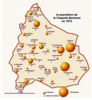 La Population de la Chapelle Bertrand au XIXe siècle